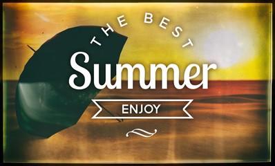 The best summer enjoy, vintage poster
