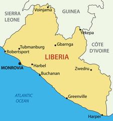 Republic of Liberia - vector map