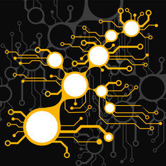 Аbstract circuit board techno background. EPS10 vector