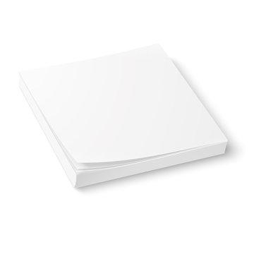 White paper block template.