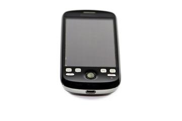 Smartphone auf weißem Hintergrund