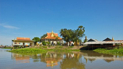 Buddhist Temple in Tonle Sap Lake