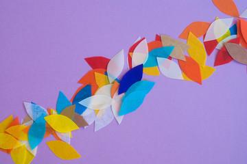 Poster Geometric animals colourful flower design