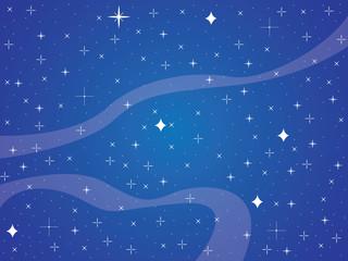 Blue sky full with shiny stars background illustration