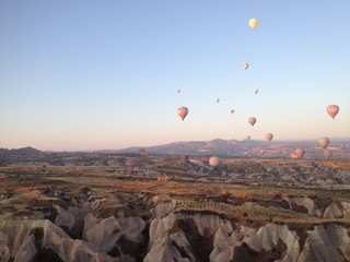 balloons in the turkish sky
