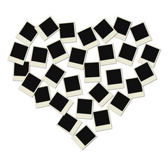 Love Polaroid heart