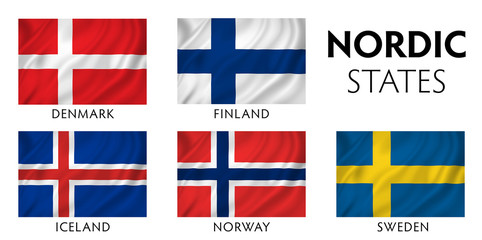 Nordic Scandinavian Countries Wall mural