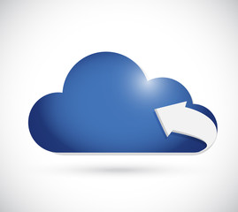cloud computing and arrow illustration