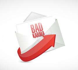 bad karma email illustration