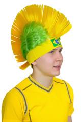 Football fan in headdress - Mohawk (Iroquois)