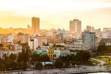 Havana (Habana) in sunset, Cuba
