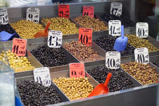 olives on green market