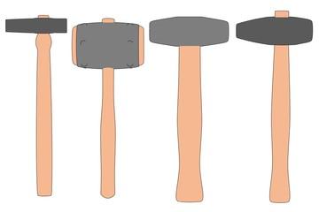 cartoon image of blacksmith hammers