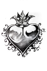 Heart sketch of tattoo