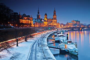 Winterabend in Dresden