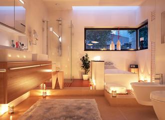 Badezimmer im Kerzenlicht - candle light bathroom