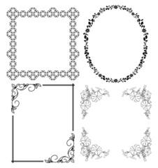 black decorative frames - vector set