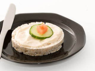 Rice Cake Spread with Mayonnaise