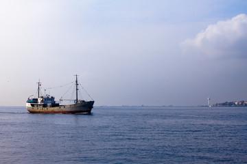 Seaboat in open sea