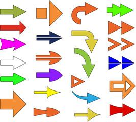 colour arrows