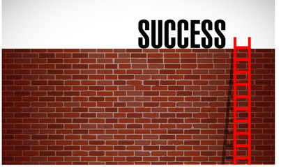 ladder to success illustration design graphic