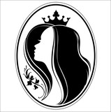 girl princess silhouette on chocolate background stock image and