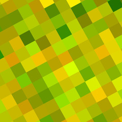 Abstract Green Palette Squares Background