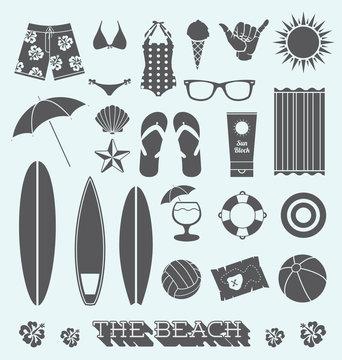 Vector Set: Under the Sun Beach Icons