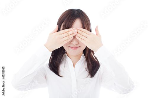 """目を手で覆う女性""""Fotolia.com ..."""
