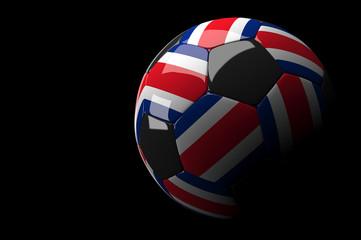 Costarica soccer ball on dark background