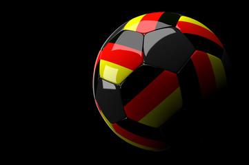 Germany soccer ball on dark background