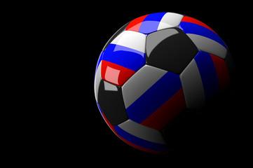 Russia soccer ball on dark background