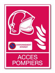 Panneau Accès pompiers.