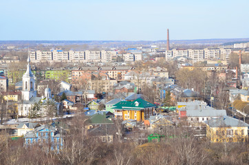 Общий вид города Вологда, церковь Варлаама Хотунского в Вологде