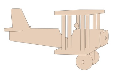 cartoon image of wooden toy