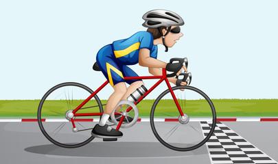 A bike racing