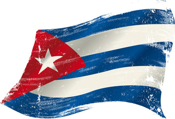 cuban grunge flag
