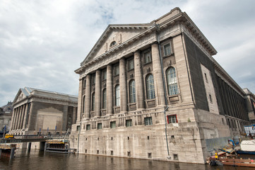 Facade of the Pergammonmuseum in Berlin. The Pergammon Museum ho