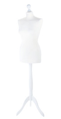 Empty female mannequin isolated on white