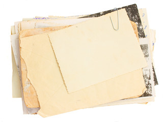 pile of old mail and old photos