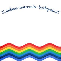 Rainbow wavy watercolor background