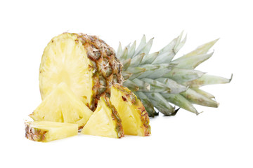 Pineapple with quarter slices.