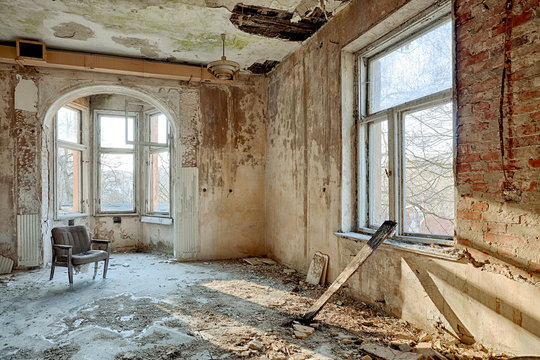 Beautiful, forgotten and destroyed house