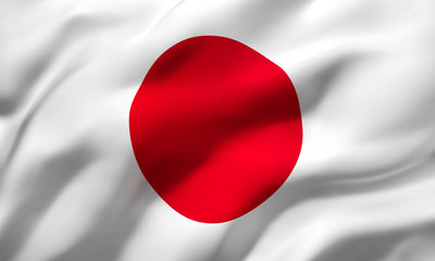 Foto op Canvas Japan flag of Japan
