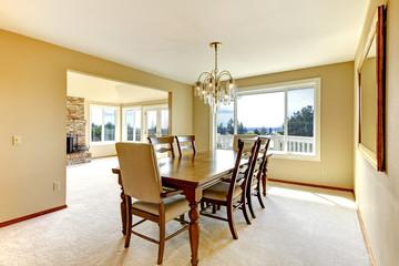 Classic elegant dining table set