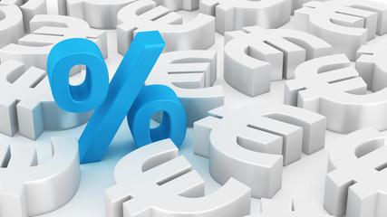 Big percent of euros