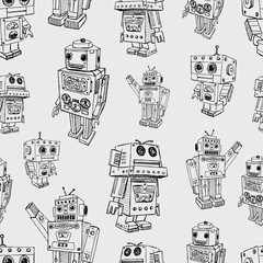 pattern of toy robots