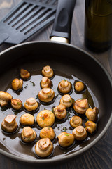 Pan sauteed mushrooms