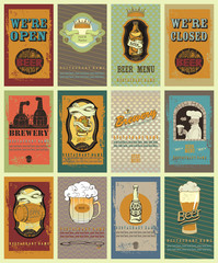 Retro beer's labels.