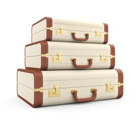 Three vintage suitcase